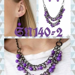 Another beautiful set of jewlery purple new with